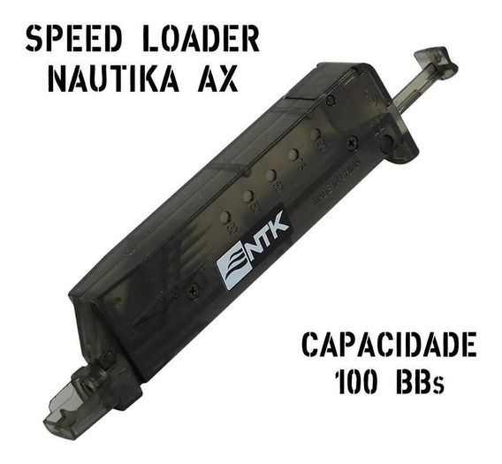 Speed Loader Recarregador Nautika Ax Até 100 Bbs - Plástico