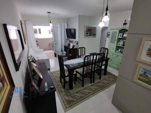 Imagem 1 de 30 de Apartamento Com 3 Dormitórios, Sendo 1 Suíte, 2 Vagas E Hbox, À Venda, 93 M² Por R$ 795.000 - Córrego Grande - Florianópolis/sc - Ap3376
