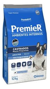 Premier Ambientes Internos Castrados Cães Adultos 12kg