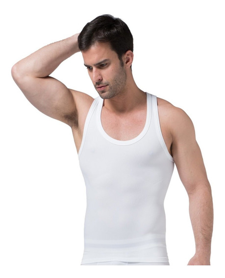Faja Hombre Camiseta Premium Reduce Tallas Corrige Postura