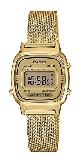 Relógio Casio Feminino Vintage Digital La670wemy 9df Dourado