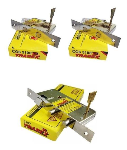 Cerradura Trabex 2107 Hermanada Con 2 Cerrojos Trabex 5105