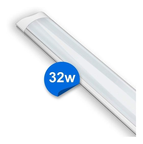 Luminária Sobrepor Led 6000k De 32w Com 120cm Bivolt Branco