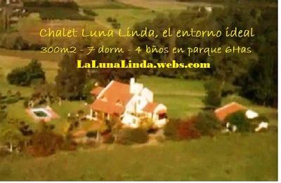 Chalet Luna Linda Ideal Institucion 300m2 6ha. Dueña.permuto