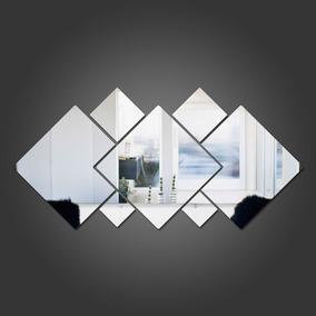 Espelho Acrílico Decorativo - 7 Quadrados Mosaico 100cm