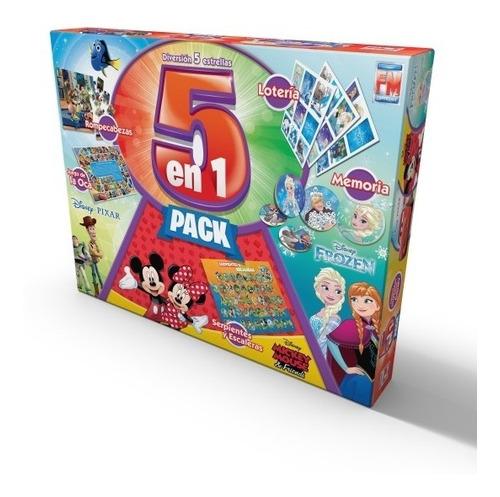 Juego De Mesa Fotorama 5 En 1 Play House Disney