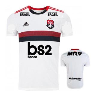 Camisa Flamengo Branca Patrocínio 2019/20 - Original - Frete Grátis - Envio Imediato