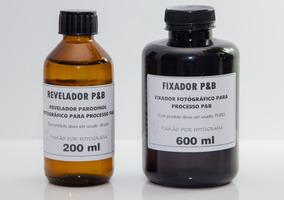 Revelador Parodinol + Fixador Fotográfico Processo P&b