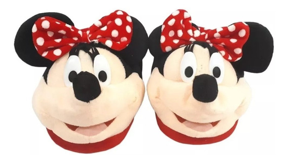 Pantufa Minnie Mouse 3d Licenciado Disney Mickey Mouse