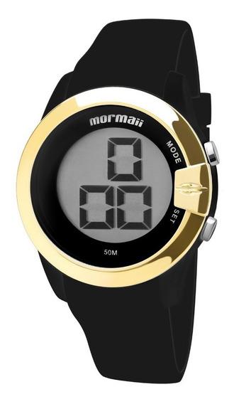Relógio Mormaii Feminino Digital Mo13001/8p Preto Dourado