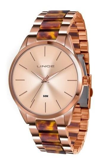 Relógio Lince Lrr4381l Aço Inox Original Analógico Rosé