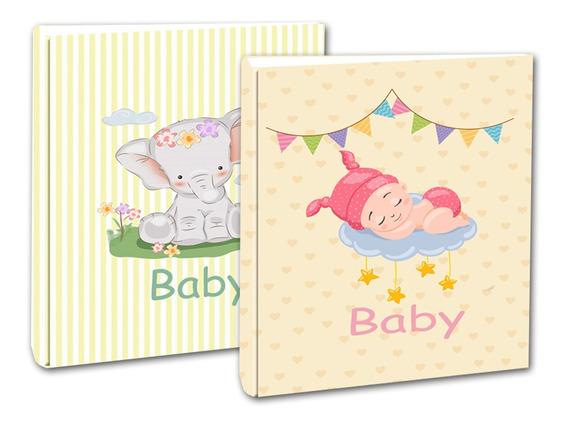 02 Álbuns Para Fotos 10x15 Àlbum Do Bebê E Elefantinho