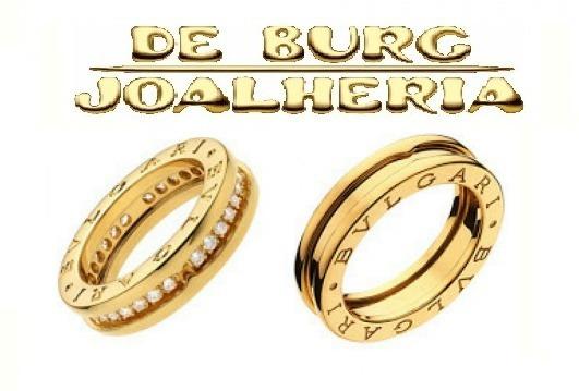 Par Aliança Bulgari Bvlgari Ouro 18k 15g Par 12x Cartão Novo