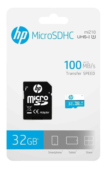 Cartão Memoria Microsd 32gb Hp Classe 10 Ultra 100mb/s