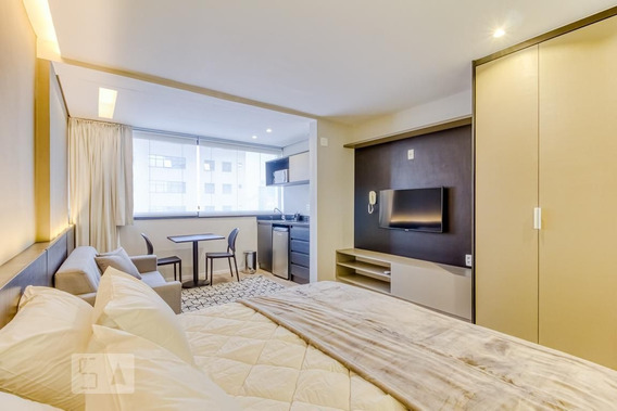 Studio No 17º Andar Mobiliado Com 1 Dormitório E 1 Garagem - Id: 892965354 - 265354