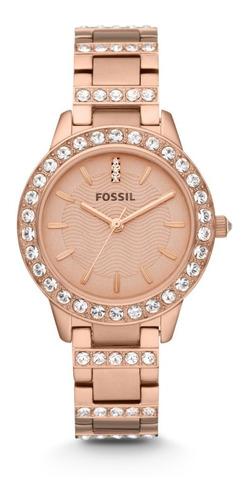 Imagen 1 de 8 de Reloj Dama Fossil Es3020 Color Oro Rosado De Acero