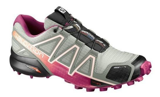 Tênis Salomon Speedcross 4 Cs Fem - Cinza/pink