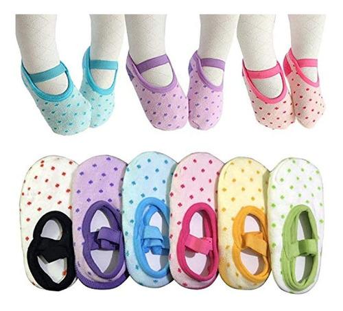 Calcetines Antideslizantes Para Niña, Para Regalo De Bebé, N