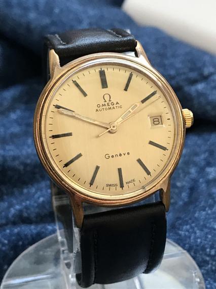 Relógio Omega Ouro 18k Plaque Automático Geneve - Show!!!!