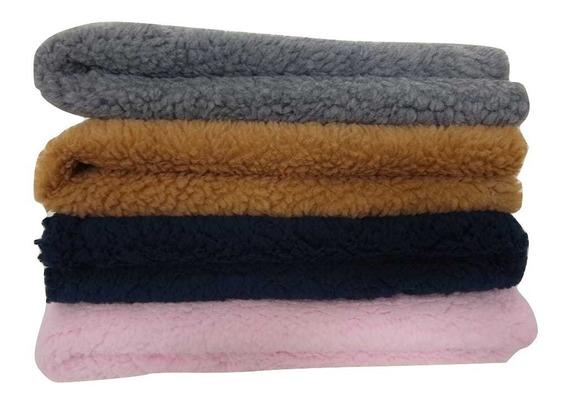 Tecido Carapinha Lã De Ovelha Pelúcia Cor (rosa Bebê)
