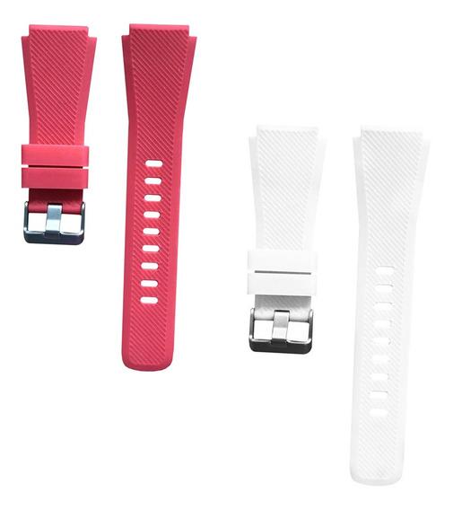 2 Pcs Correas De Silicona Compatible Con Samsung Gear S3