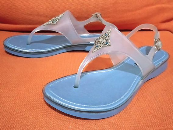 Sandalias Casuales Jelly Plástico Hule Andrea No. 24.5 Dama