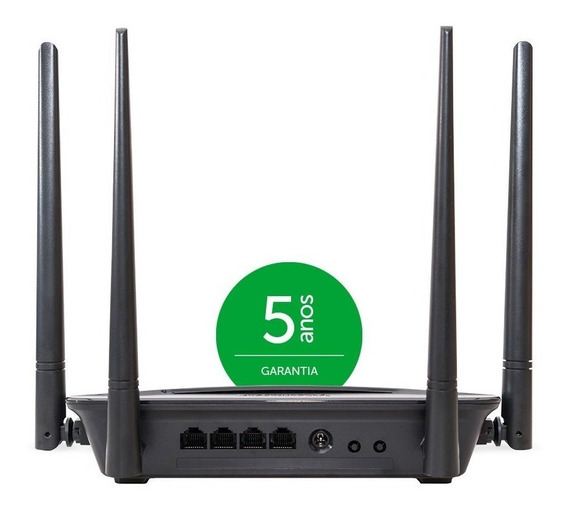 Roteador 4 Antenas Wifi Wireless Intelbras R1200 Rf 867 Mpbs