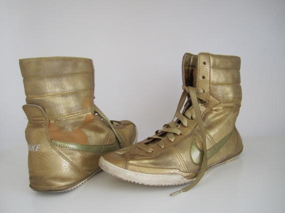 Zapatillas Nike Gold Wmns Talle 8.5 Usa/ 25.5cm Con Detalle