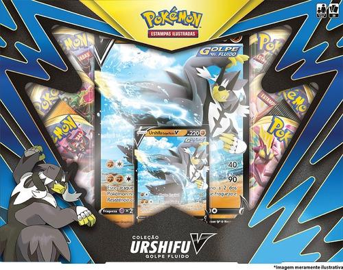 Imagem 1 de 3 de Card Game Pokémon Tcg Box Urshifu V Golpe Fluido Copag