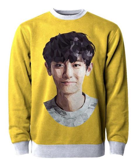 Casaco Blusa Moletom Exo Kpop Chanyeol Kawaii Tumblr Fofo Mt