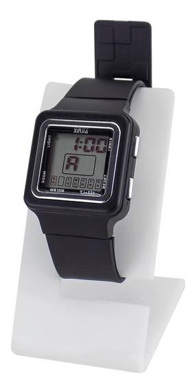 Relógio Unissex Digital Preto Á Prova D´água C/ Nf - Krs25