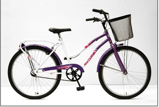 Bicicleta Futura R24 Playera De Lujo Con Canasto Dama