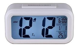 Reloj Despertador Lcd Luz Snooze Light Calendario Temperatur