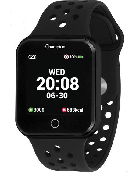 Relógio Champion Smartwatch Bluetooth 4.0 Preto Puls. Preta