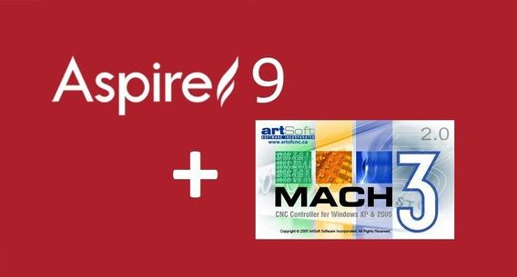 Vectric Aspire 9.015 + Mach3 Licenciado + Manual Portugues