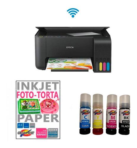 Kit Para Foto Torta Impresora Tinta Comestible Papel Arroz