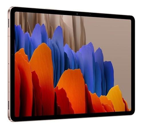 """Tablet Samsung Galaxy Tab S7 SM-T875 11"""" 256GB mystic bronze com memória RAM 8GB  e conexão de telefone celular"""