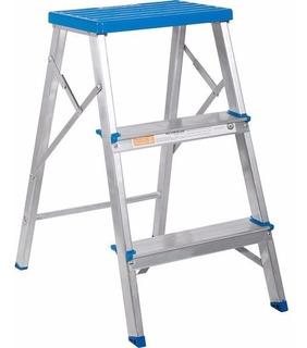 Escada Doméstica Em Alumínio 3 Degraus 120kg