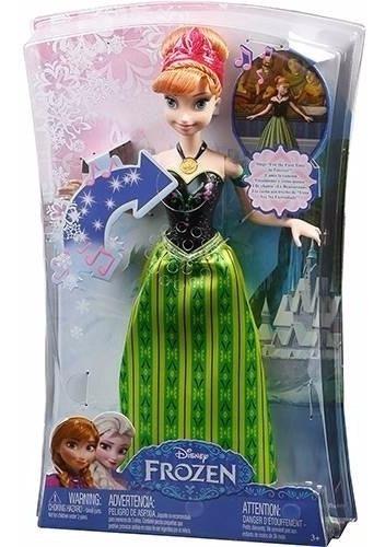 Boneca Anna Musical Disney Frozen - Mattel Cmk70 Original