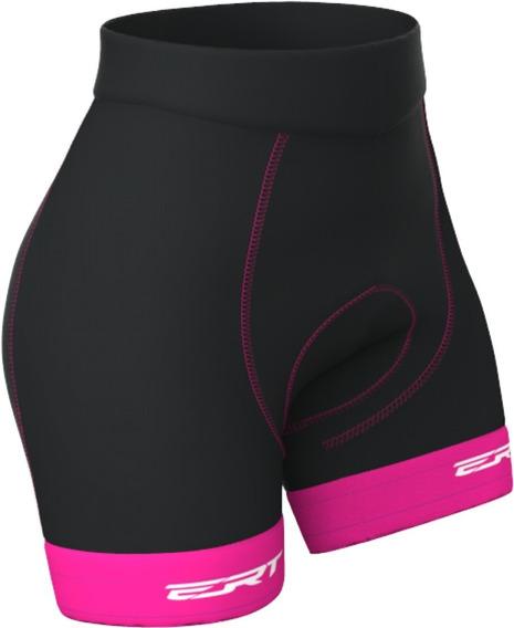 Bermuda Ert Forro Dual Pro Rosa Ciclismo Mtb Feminina