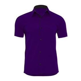 54222e7705 Camisa Social Roxa Escura - Calçados, Roupas e Bolsas com o Melhores ...