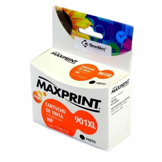 Cartucho Hp Cc654al 15,5ml Preto(901xl) / Un / Maxprint