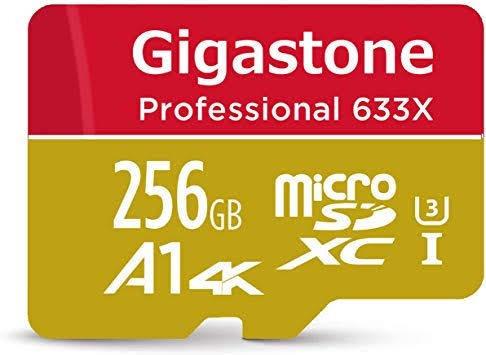Cartão De Memória 256gb Microsd Gigastone + Adaptador Sd