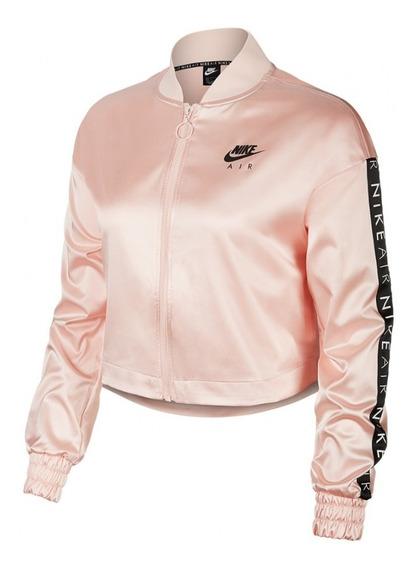 Campera Nike Nsw Air Trk Jkt Satin Mujer Loose Fit