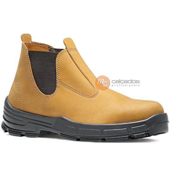 Botina De Segurança Nobuck Amarelo Bracol Retn Ca 26511