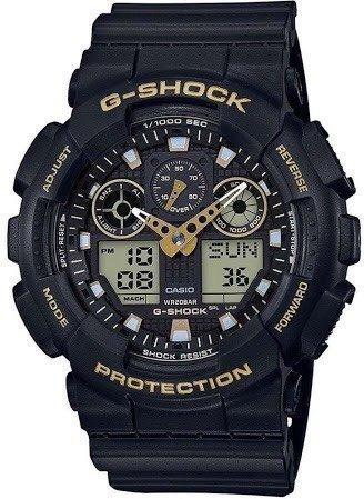 Relógio G-shock Ga-100gbx-1a9 Com Detalhes Em Dourado (preto
