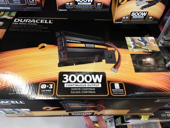 Duracell Inversor De Corriente 3000w Automotriz Panel Solar