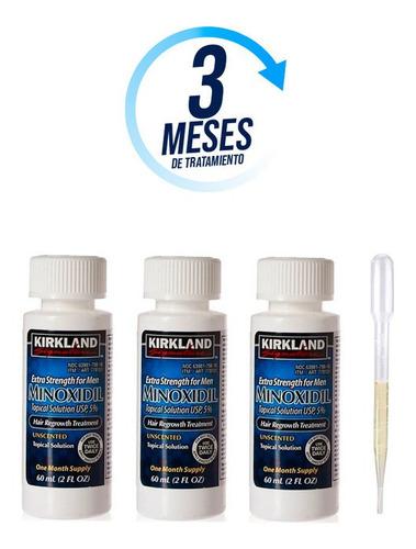 Minoxidil Kirkland 5% Solución Tópica 3 Meses De Tratamiento
