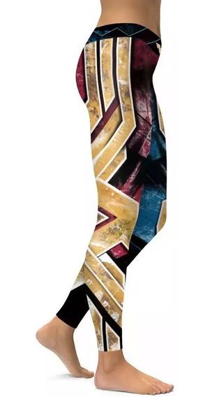Leggins Mujer Maravilla Crossfit Regalo Dama Super Heroes