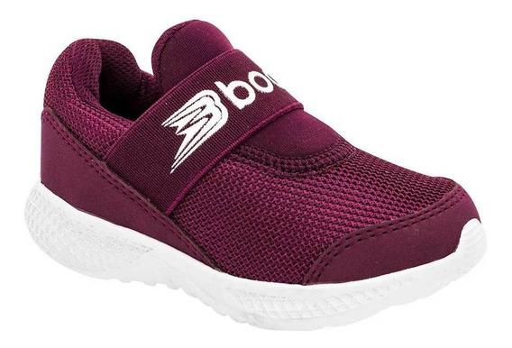 Tenis Boost Niño Bebe 068 Color Vino Talla 12-14 -shoes
